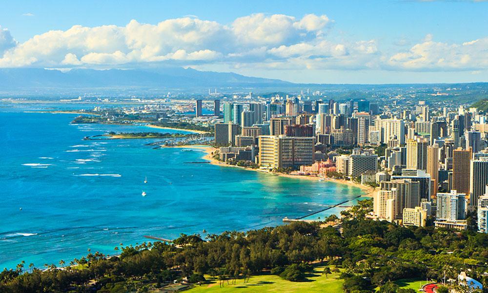 32d0ea9a34 Honolulu Kahului mountains and ocean