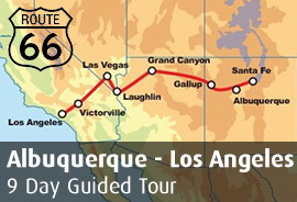 Route 66 West: Albuquerque to Los Angeles