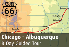 Route 66 West: Chicago to Albuquerque